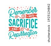 easter day typography quotes... | Shutterstock .eps vector #1925124842