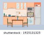 cozy kitchen interior  flat... | Shutterstock .eps vector #1925131325