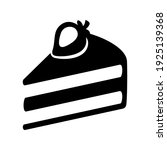 hand drawn cake slice icon.... | Shutterstock .eps vector #1925139368