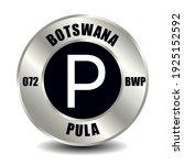 botswana money icon isolated on ... | Shutterstock .eps vector #1925152592