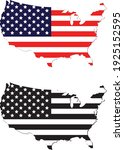 vector of the usa map flags | Shutterstock .eps vector #1925152595