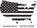 vector of the usa map flags | Shutterstock .eps vector #1925152598