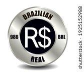 brazil money icon isolated on... | Shutterstock .eps vector #1925152988