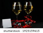Glasses With Champagne Tied...