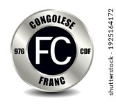 congo money icon isolated on... | Shutterstock .eps vector #1925164172
