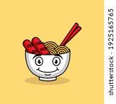 cute noodle ramen head cute... | Shutterstock .eps vector #1925165765