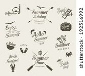 summer icon badges set | Shutterstock .eps vector #192516992