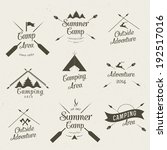 summer camping icon set | Shutterstock .eps vector #192517016