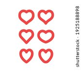 hearts vector icon collection....   Shutterstock .eps vector #1925188898