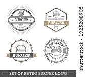 retro fast food burger badge... | Shutterstock .eps vector #1925208905