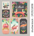 greeting card romantic labels... | Shutterstock .eps vector #192521858
