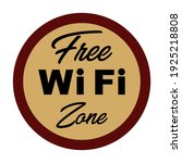 vector free wifi zone sign | Shutterstock .eps vector #1925218808
