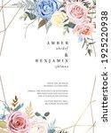 line art floral beige frame... | Shutterstock .eps vector #1925220938
