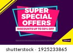 super special offers discounts... | Shutterstock .eps vector #1925233865