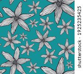 pattern with graphic flowers.... | Shutterstock . vector #1925235425