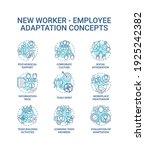 adaptation of new worker...   Shutterstock .eps vector #1925242382