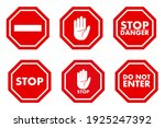 stop traffic icon. restrictive... | Shutterstock .eps vector #1925247392