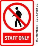 staff only sign. to prevent... | Shutterstock .eps vector #1925248592