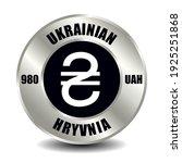 ukraine money icon isolated on... | Shutterstock .eps vector #1925251868