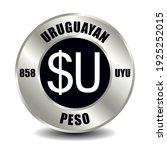 uruguay money icon isolated on... | Shutterstock .eps vector #1925252015