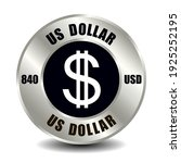 usa money icon isolated on... | Shutterstock .eps vector #1925252195