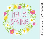 hello spring floral greeting...   Shutterstock .eps vector #1925268638