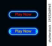 play now button neon icon for...