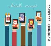 mobile apps concept. flat... | Shutterstock .eps vector #192526922
