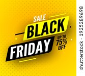 black friday sale banner with...   Shutterstock .eps vector #1925289698