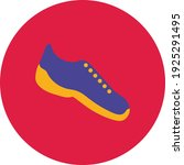 flat color running shoe icon on ... | Shutterstock .eps vector #1925291495