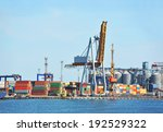 port cargo crane and container... | Shutterstock . vector #192529322