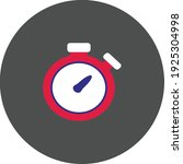 flat color stopwatch icon on... | Shutterstock .eps vector #1925304998