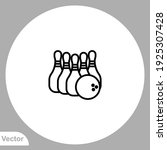 bowling icon sign vector symbol ... | Shutterstock .eps vector #1925307428