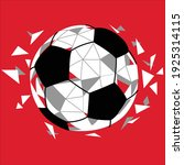 soccer ball with geometric... | Shutterstock .eps vector #1925314115