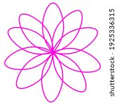 pink flower in line style. the...   Shutterstock .eps vector #1925336315