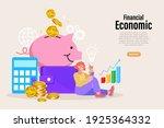 safe money on piggy. internet...   Shutterstock .eps vector #1925364332