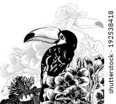 tropical monochrome background... | Shutterstock .eps vector #192538418