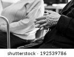 closeup of an old woman's hands ... | Shutterstock . vector #192539786