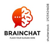 brain chat vector logo template.... | Shutterstock .eps vector #1925424608