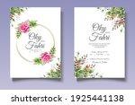 beautiful floral wedding...   Shutterstock .eps vector #1925441138