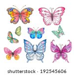 watercolor butterfly | Shutterstock . vector #192545606