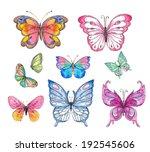 watercolor butterfly | Shutterstock . vector #192545606