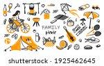hand drawn seamless pattern ... | Shutterstock .eps vector #1925462645