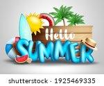hello summer vector concept... | Shutterstock .eps vector #1925469335