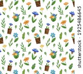 seamless pattern. spring and... | Shutterstock . vector #1925486645