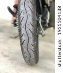 Black Motorcycle Tyre  Rear...