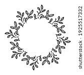 vector hand drawn spring wreath ... | Shutterstock .eps vector #1925517332