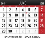 calendar for june 2015 | Shutterstock .eps vector #192553802