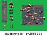 construction site   pixel art... | Shutterstock .eps vector #192555188