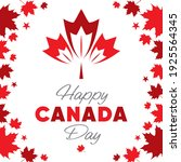 happy canada day calligraphy... | Shutterstock .eps vector #1925564345